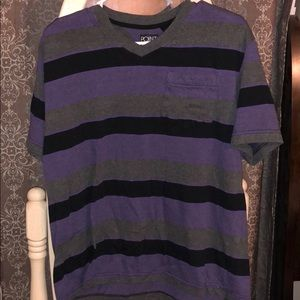 Men's size large purple, gray and black T-shirt
